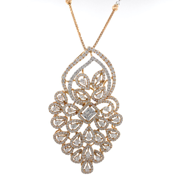 charmante with Fancy Shaped diamond pendant in 18k...