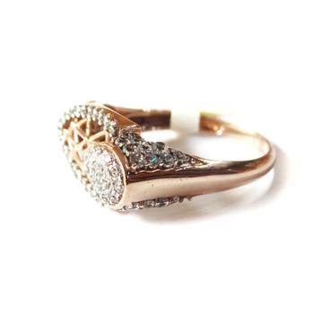 18k rose gold fancy ring mga - rgr0026