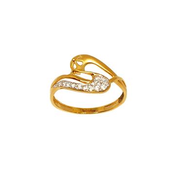 22K Gold Fancy Matte Finish Ring MGA - LRG1094