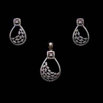 18k gold diamond pendant set agj-ps-191