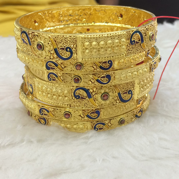916 Gold Designer Bangle Set RH-B009