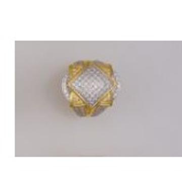 22K/916 Gold CZ designer ring by