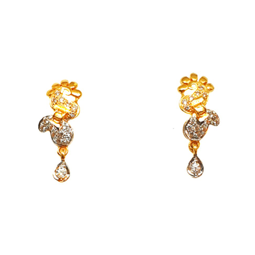 22K Gold CZ Diamond Earrings MGA - BTG0396