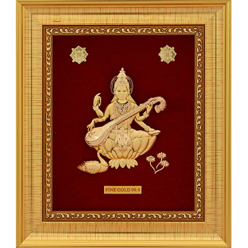 SARASWATIJI 999 GOLD FRAME by