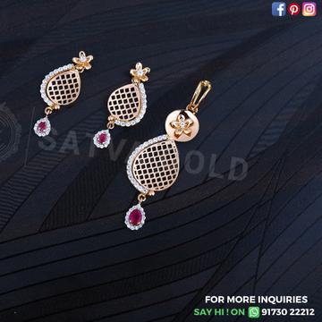 76 rose gold pendant set sgp-0009