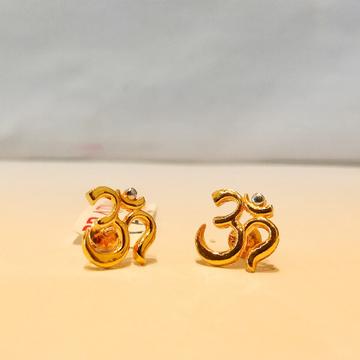 916 Hallmark Om Style Earrings For Women by Pratima Jewellers