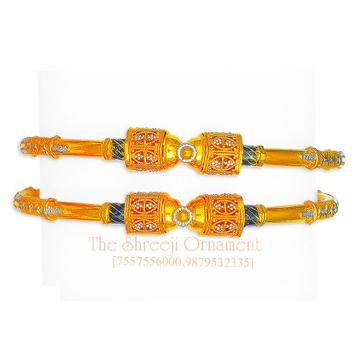 22KT Gold Traditional Modhiya Copper Kadali - 0015