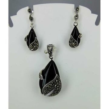 Exclusive marcasite 92.5 silver Pendant Set MG-P007
