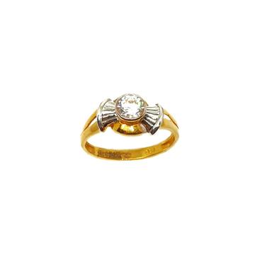 22K Gold Solitaire Diamond Ring MGA - LRG0346