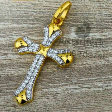 916 Fancy Cz Cross Pendent