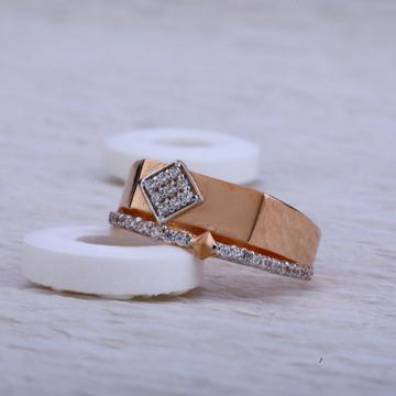 18ct Rose Gold Cz Ring RMR32