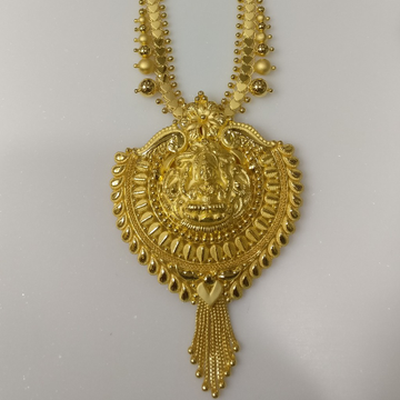 22kt gold handmade savithri haram with laxmi by