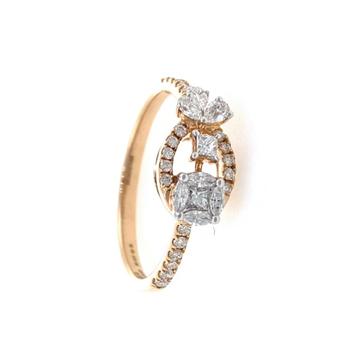 Jeune Diamond Ring for Ladies in 18k Rose Gold - 2...