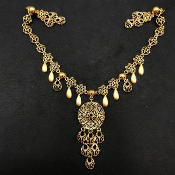 22K Gold Turkish Design Necklace Set by