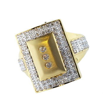 22KT CZ Gold Fancy Ring For Men SO-R002