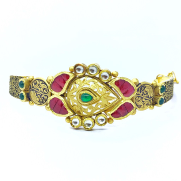 ANTIQUE FANCY GOLD KADA BRACELET