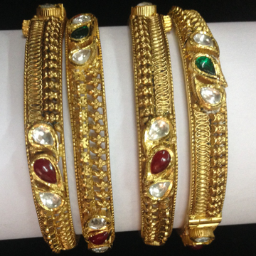 916 gold antique bangles