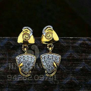 18kt Fancy Plain Cz Gold Ladies Tops ATG -0738