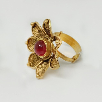 916 Gold Antique Flower Design Ring ML-LR005