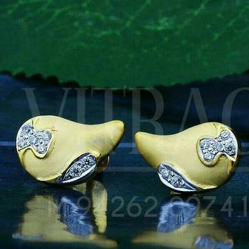 18kt Simple Plain Gold Cz Ladies Tops ATG -0200