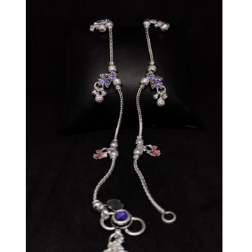 silver classical ladies anklets payal RH-LA890