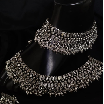 925 Pure Silver Antique Payal Handmade PO-208-25