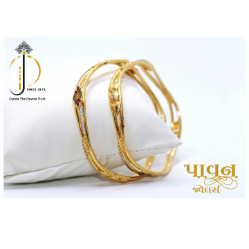 22KT / 916 Gold Zigzag Fancy Bangles For Ladies KK... by