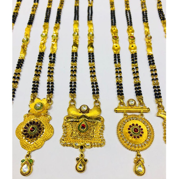 916 gold antique/kundan mangalsutra