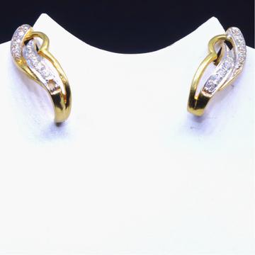 22KT / 916 Gold J - Shape CZ Diamond Fancy Earrings for Ladies BTG0029
