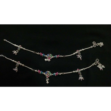 Silver Designer Indian Anklet