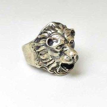 925 Sterling Silver Oxides Lion Designed Gents Rin... by