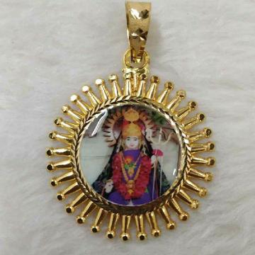 22KT Gold Dipesvari Maa Photo Pendant
