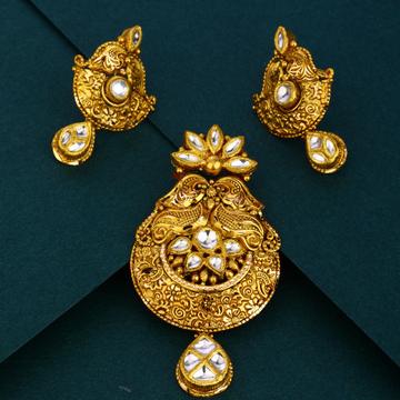 916 gold wedding wear Antique pendant set