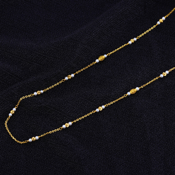 Ladies Cz 916 Gold White Moti Mala-AC120
