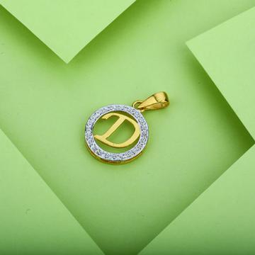 D Letter 916 Gold Pendant-LP05