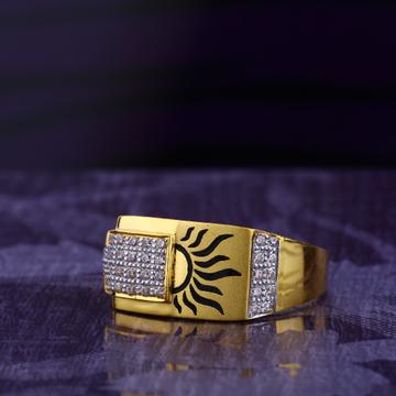 916 CZ Gold Hallmark Gentlemen's God Ring MGR163