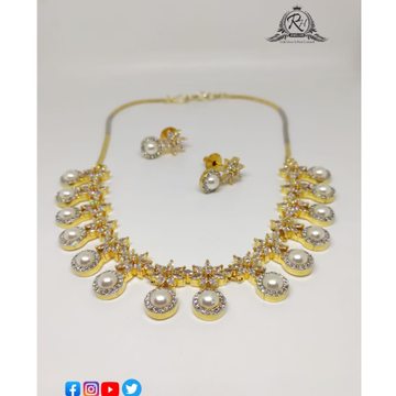22 carat gold ladies necklace set RH-NS639