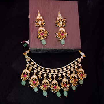 Kundan mini necklace set#dcns063