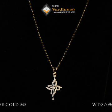 18 ct fancy mangalsutra with butti by