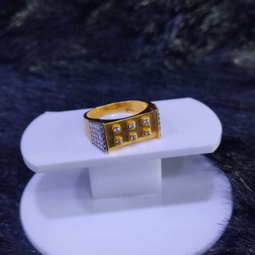 22KT/916 Yellow Gold Small Six Stone Master Class Ring For Men