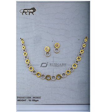 22 Carat 916 Gold Ladies Round necklace nkg0033