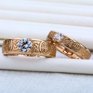 Engagement 18K Cz Rose Gold Ring-RCR08