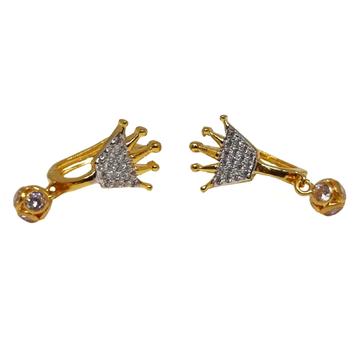 18K Gold Queen Shape Modern Earrings MGA - BLG0613