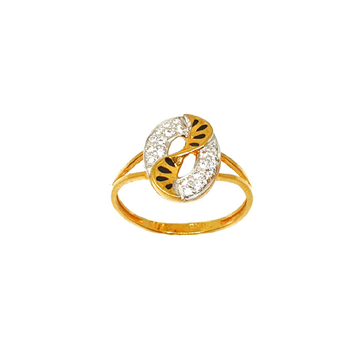 22K Gold Oval Shaped Fancy Ring MGA - LRG0266