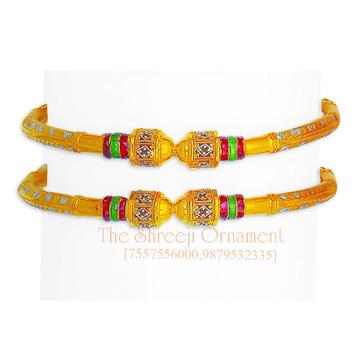 916 Gold Fancy Modhiya Copper Kadali - 0007