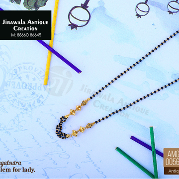 916 Gold Antique Micro Mangalsutra AMG-0056