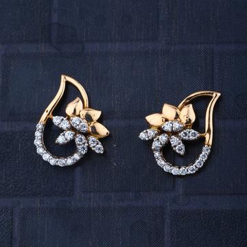 916 Gold Hallmark Fashionable Design Earring