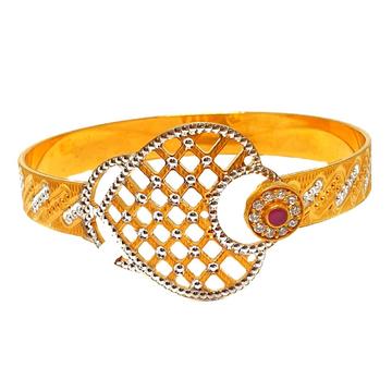 1 gram gold forming cnc cut bracelet mga - bre0087