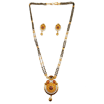 1 gram gold forming two line mangalsutra mga - mse...