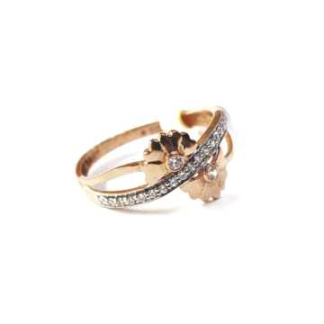 18k rose gold fancy ring mga - rgr008